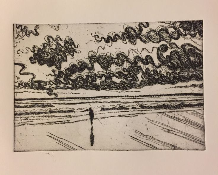 Braving the Beach: Copper plate etching