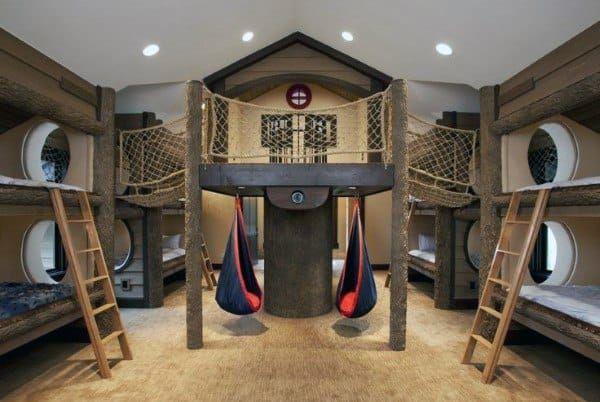 Top 70 Best Bunk Bed Ideas Space Saving Bedroom Designs Cool Bunk Beds Space Saving Bedroom Awesome Bedrooms