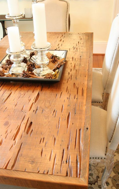 The Pecky Dining Table Farmhouse Style Made Reclaimed New Orleans Homes