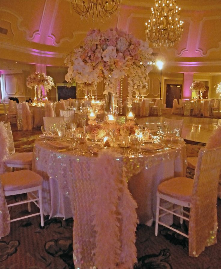 Stunning wedding reception decor! This couple paid attention to every little detail #LavishSoireeWeddings