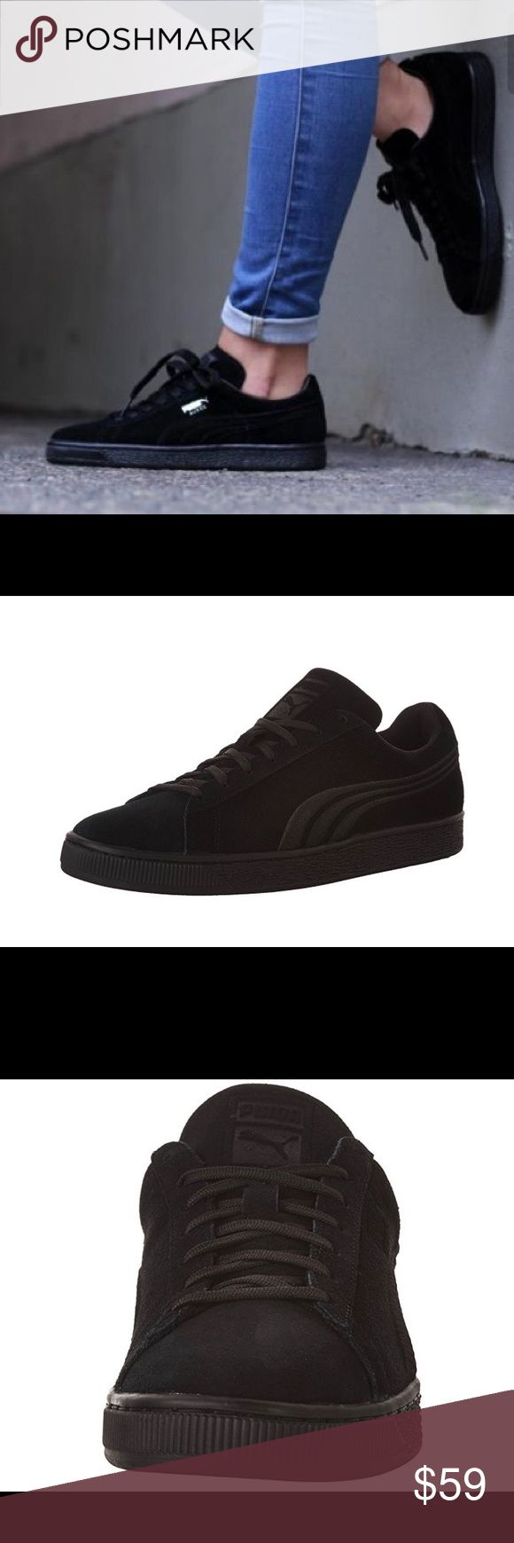 NWT Black Suede Puma Sneaker Men's 7/ Women's 8.5 Super cute black suede sneakers. Brand new but were too big for me :( Puma Shoes Sneakers