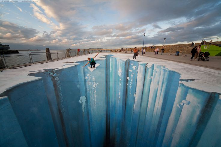 Ice age by edgar mueller amazing side walk art