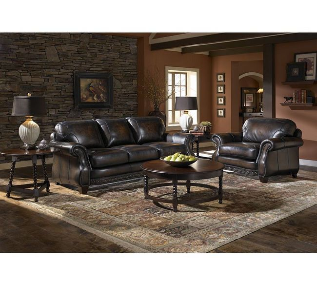 Broyhill Stetson L704 Top Grain Leather Sofa Collection