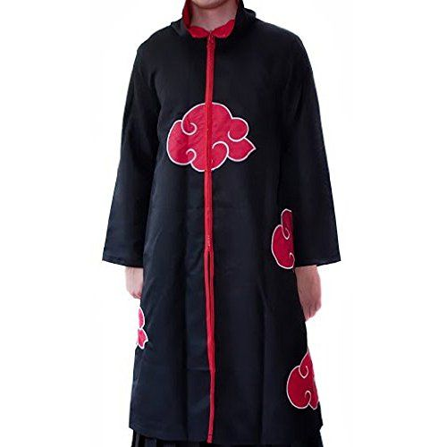 C.J. SHOP Cosplay Naruto Akatsuki Orochimaru uchiha madara Sasuke Eagle itachi ninja Uniform cloak clothes Black with Red Cloud Costumes Anime  Would be a great item to add to any cosplay costume Great for collectibles and as gift to friened or relatives Specially custom-made according to the Original Character!