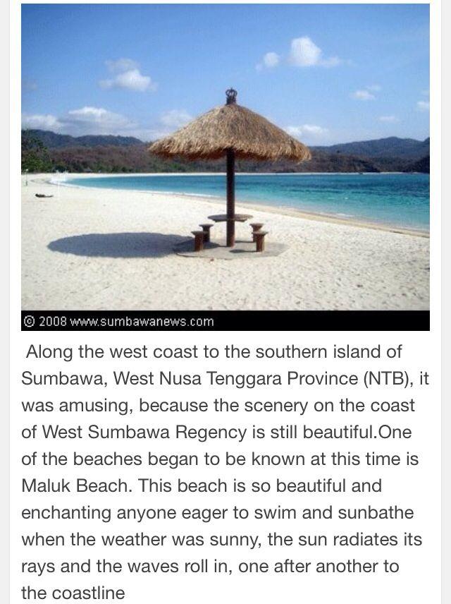 Maluk Beach-Sumbawa-NTB Indonesia.