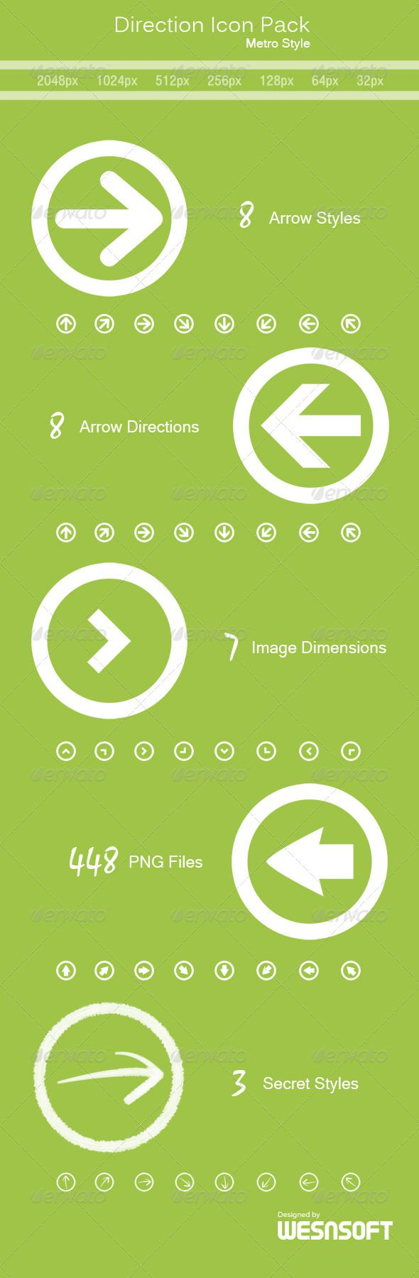 Direction Icon Pack (Metro Style) - Web Icons