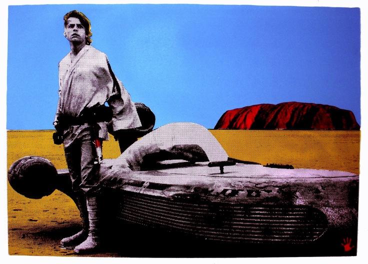 "AUD$60 includes free registered post Australia wide ""Lost"" Screenprint by Franck Gohier  www.redhandprints.com"