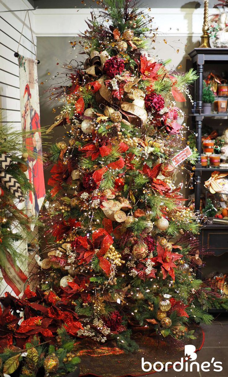 Christmas Tree With Ribbon Decorating Ideas