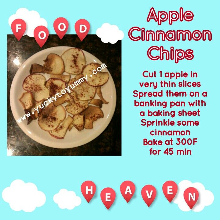 Awesome 21 day fix approved Apple Cinnamon Chips!!! Only 1 purple per recipe! ;) Better than popcorn! Yucky to Yummy