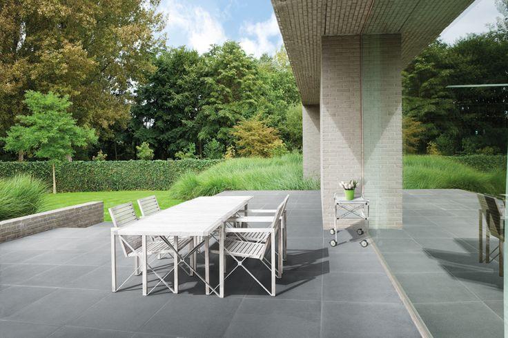 Tuintegels :: Gecoate Tegels :: Manhattan Concrete - Lek Tuinmaterialen