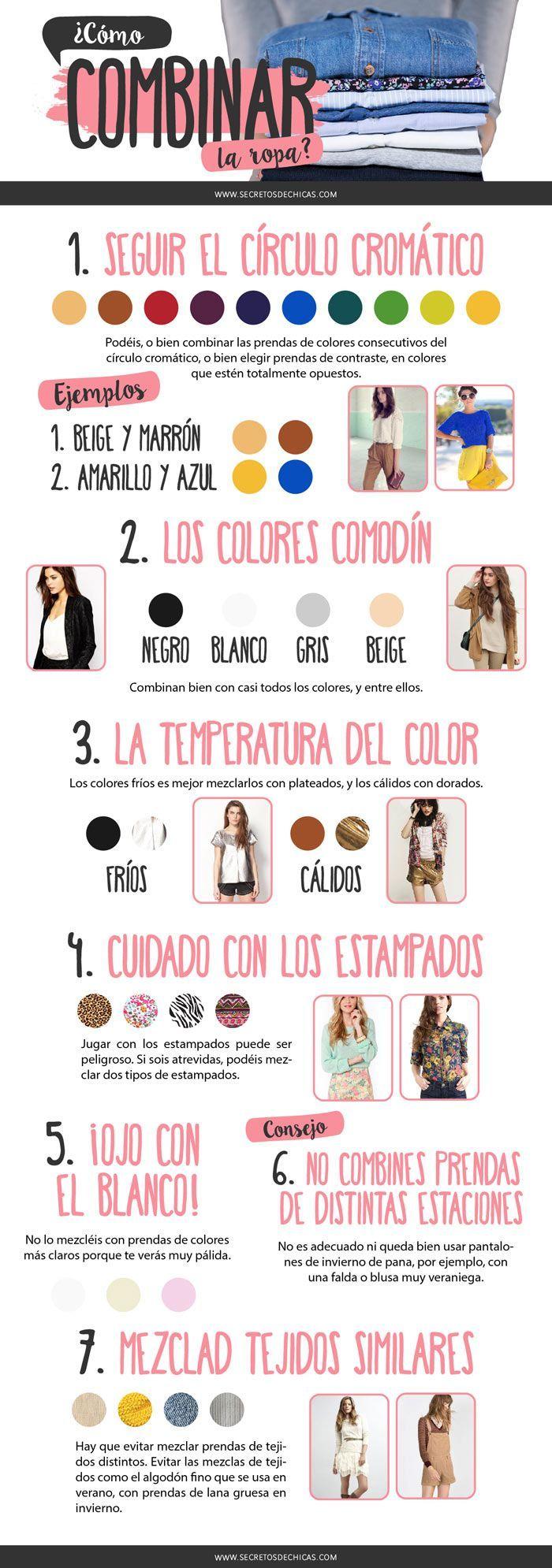 17 best images about c mo combinar prendas on pinterest - Colores para combinar ...