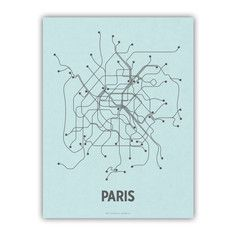 Paris Screenprint Blue, $24, now featured on Fab.