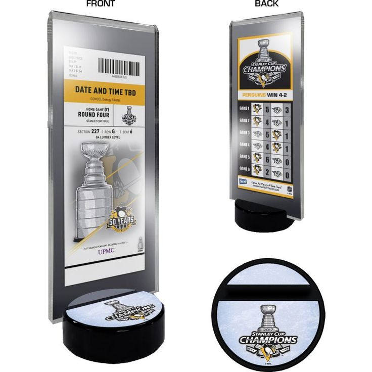 2017 Stanley Cup Champions Pittsburgh Penguins Ticket Stand, Team