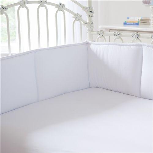 Solid White Crib Bumper | Carousel Designs