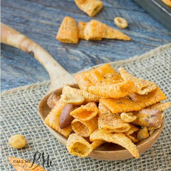 Boy Scout Snack Mix is crunchy, spicy and completely irresistible. It's great for snacking on while camping and makes a great gift during the holidays.