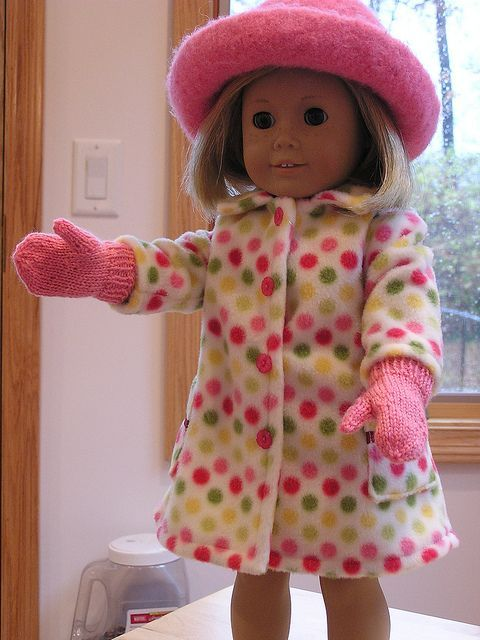 "18"" doll mittens free downloadable pattern 
