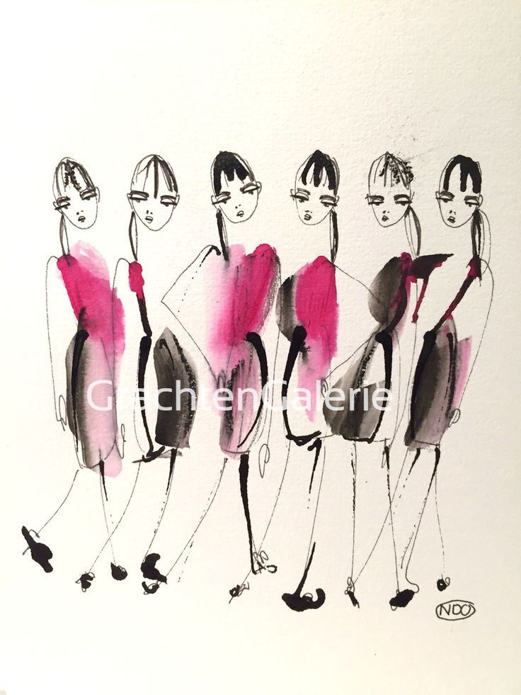 Noortje den Oudsten | present lady 6 | tekening | kunst | illustratie | mode | aquarel | drawing | art | illustration | fashion | women | kunstcadeau | presents