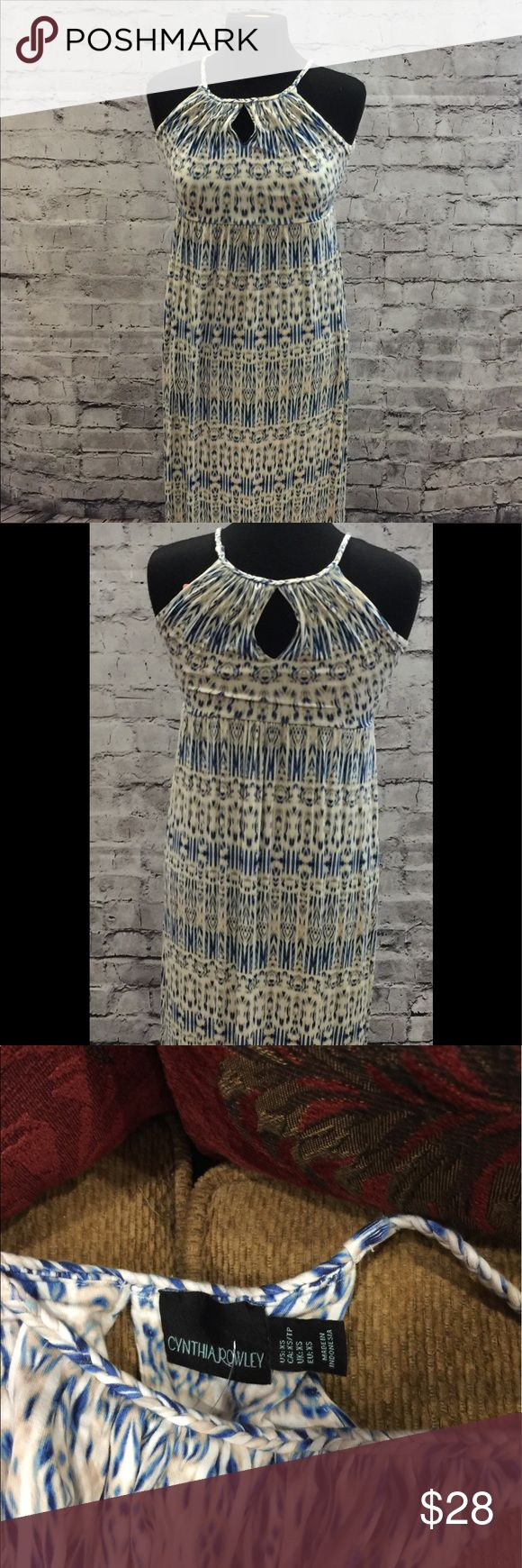 Cynthia Rowley Blue And White Maxi Dress A beautiful maxi dress with a semi striped pattern that would go great with any occasion and make you look the best Cynthia Rowley Dresses Maxi
