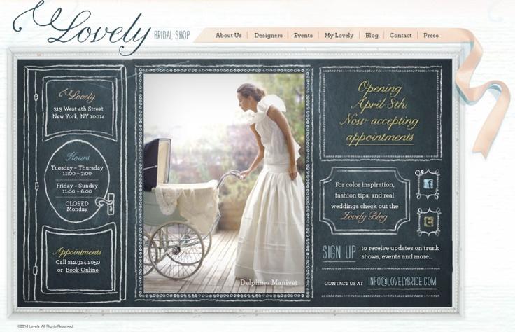 Pretty Website Design - chalkboard