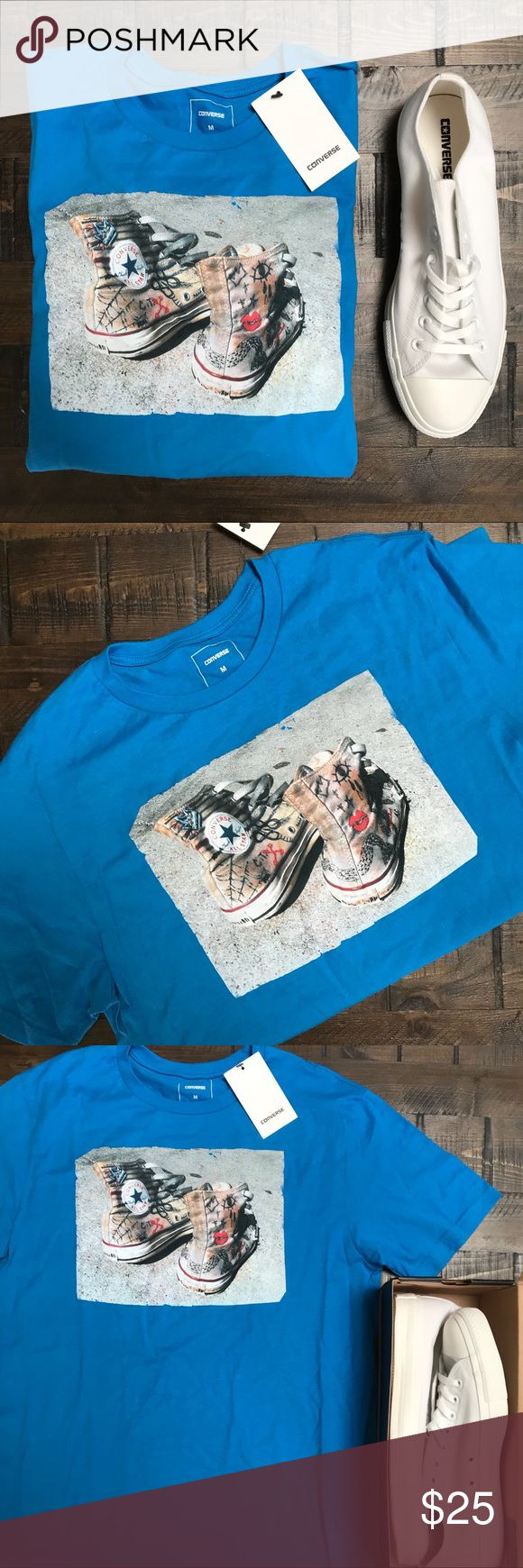 NWT 💙 Converse MENS TEE SZ MEDIUM New with tags! Converse slim cut, smooth combed cotton short sleeve tee size medium. 💙 Ships Same or next day from my smoke free home. Bundle items to save! Converse Shirts Tees - Short Sleeve