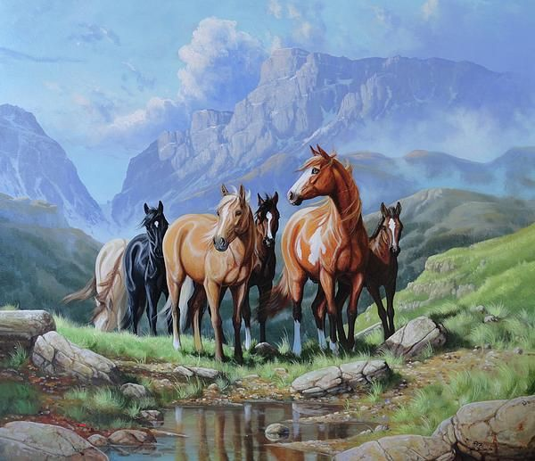 Horse painting by Roberto Bianchi