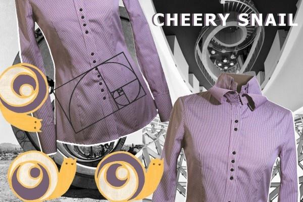 CHEERY SNAIL #shirt #design #moodboard