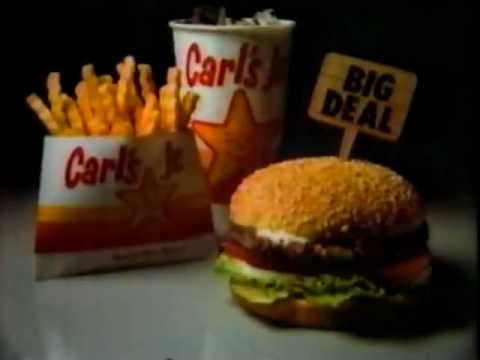 1984 Carl's Jr. Big Deal Commercial - YouTube