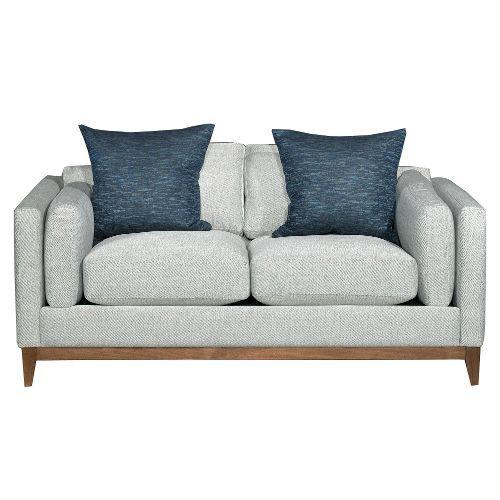 kelsey stone upholstered midcentury modern loveseat