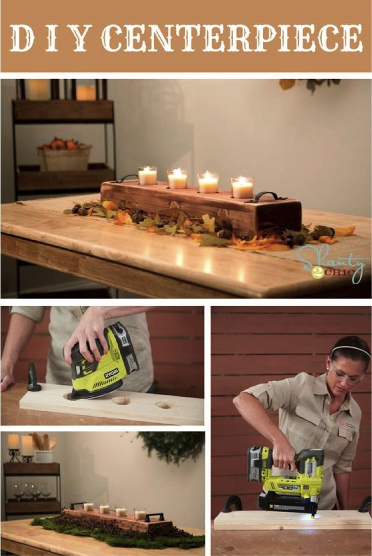 Build your own beautiful (and simple!) centerpiece for the Holidays with this tutorial by Shanty 2 Chic and RYOBI Nation. This table decoration idea is perfectly adaptable for whatever Holiday or event you're celebrating. Check out the full instructions right here.