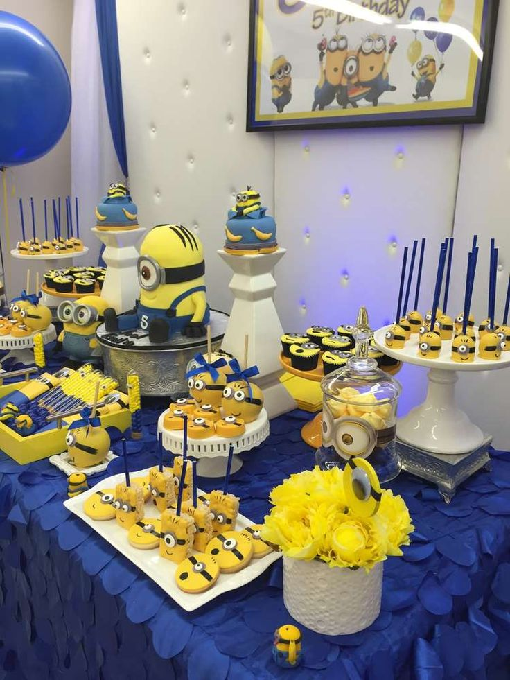 Amazing Minions birthday party! See more party planning ideas at CatchMyParty.com!