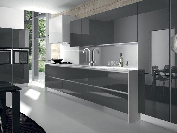 Nice cocinas modernas italianas pictures cocinas color gris y blanco italianas ideas para - Cocinas modernas italianas ...