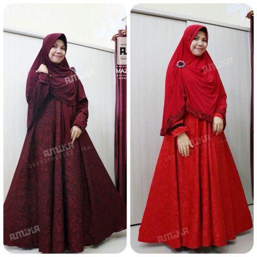 Gamis cantik, mazaya series dari gamis amika  Hadir dalam balutan warna maroon dan merah.. ready to order..   Kontak gamis amika : Telp / Sms / Wa : ika - 081325660162