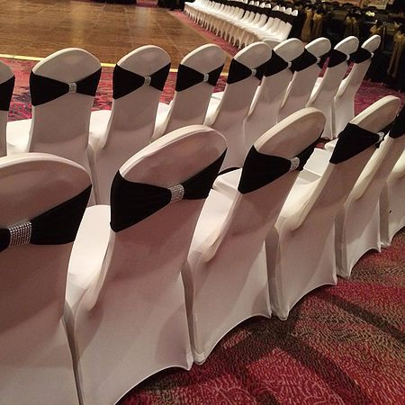 Ivory Chair Covers Spandex Recliner Power 1 Cover Rentals Dallas Tx Black White 0 50 Sashes Wedding In 2019 Pinterest And