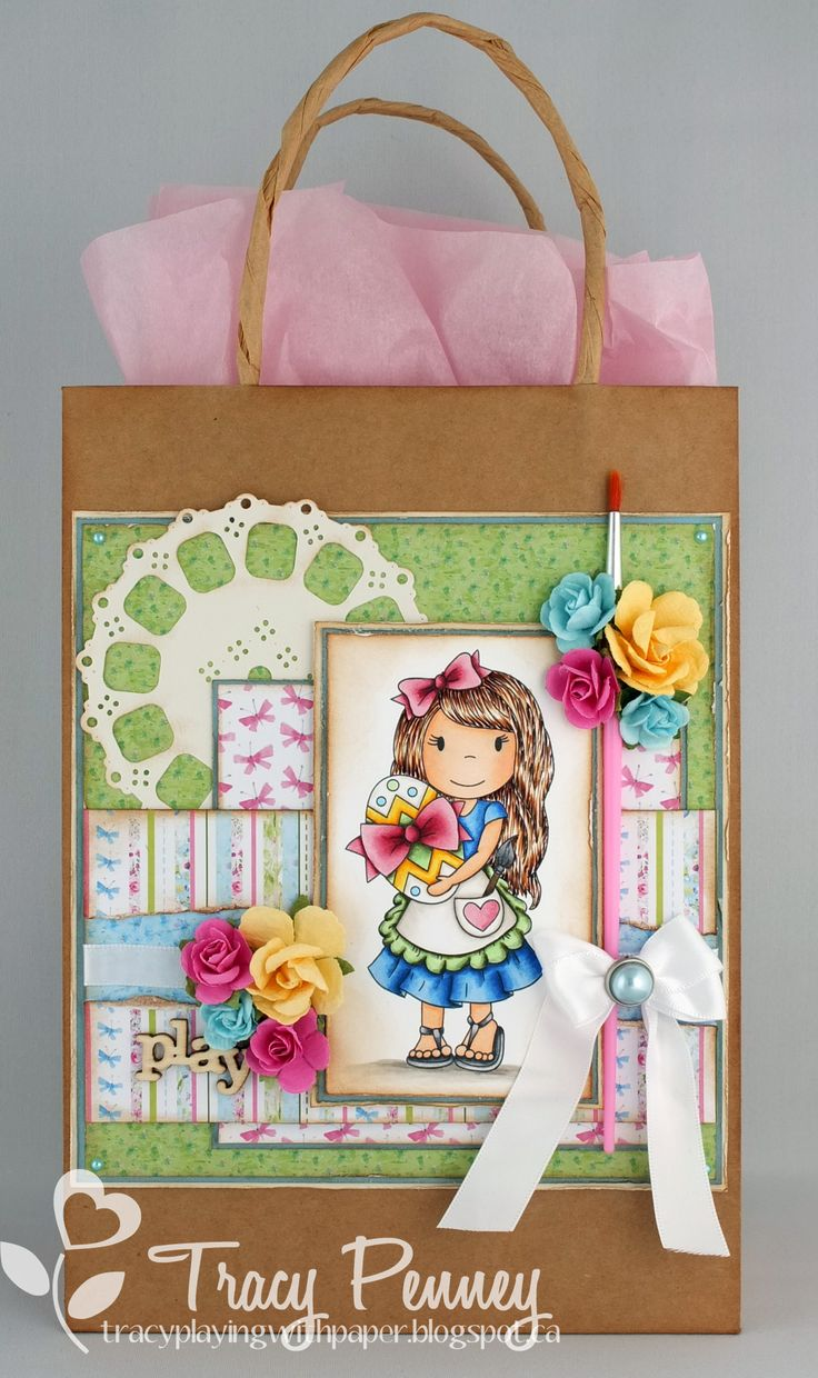 Altered Gift bag Image: Egg Coloring Avery The Paper Nest Dolls