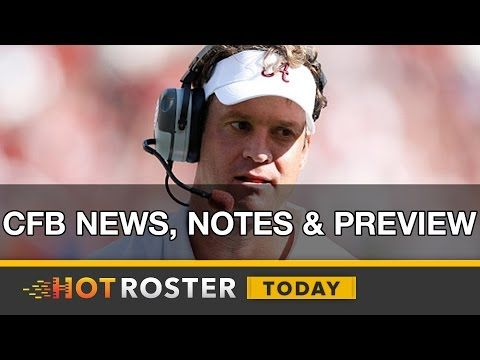 2016 College Football: News & Notes, Lane Kiffin, Playoff Expansion & More! | HotRoster Today