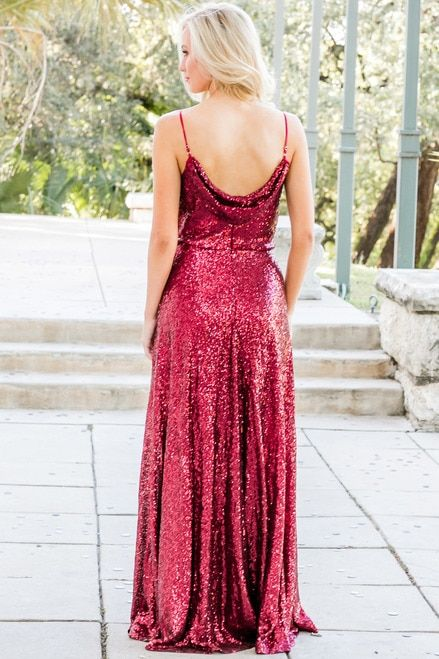 9c6ffd601cd Hazel rose gold sequin bridesmaid dress