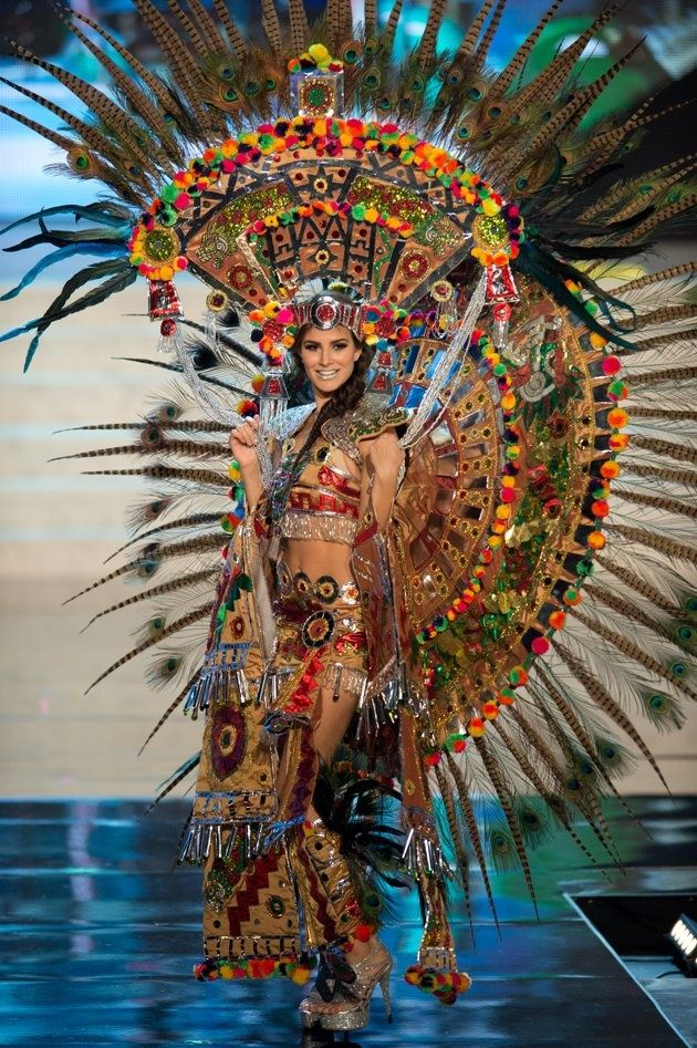 A possible Miss Mexico. Her outfit is WOW!