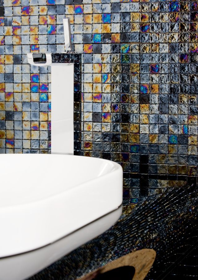 Glass Mosaic Fat Cubic by DUNIN