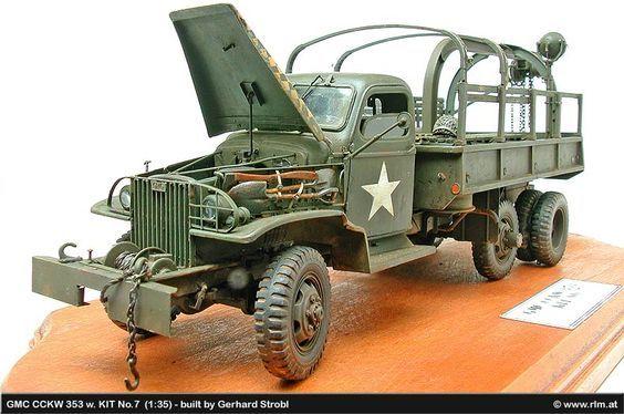 Alliierte Radfahrzeuge - GMC CCKW 353 w. KIT No.7 & Bedford QLD - gebaut von Gerhard Strobl