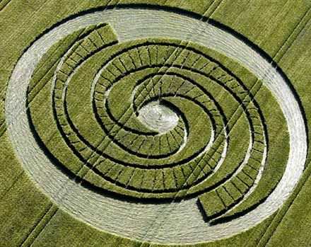Crop Circle of the Fibonacci Sequence