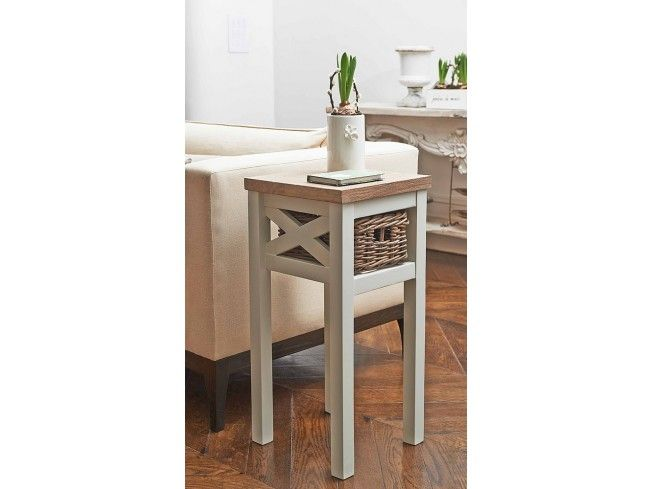 This beautiful Southwold Side Table is inspired by the Suffolk seaside town of the same name. Made from solid wood and featuring an attractive pull-out rattan #storage #basket, it is both stylish and practical. Its slim design makes it perfect for a narrow #hallway as a telephone/key table or the side of your #bed. #livingroom