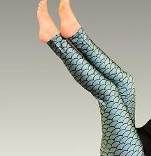 Leggings Mermaid Dragon stretchy leggings UK postage green alternative L 12 in Clothes, Shoes & Accessories, Women's Clothing, Leggings | eBay