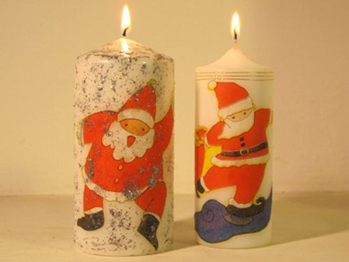 tutorial diy velas adornos navideos navidad con decoupage httptuteate