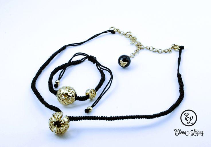 Colecci n de mariposa monarca collar tejido con chapa de for Disenos de joyas en oro