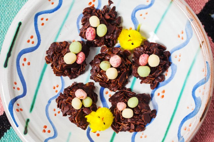 Chocolate Easter Nests, what could be more traditional?