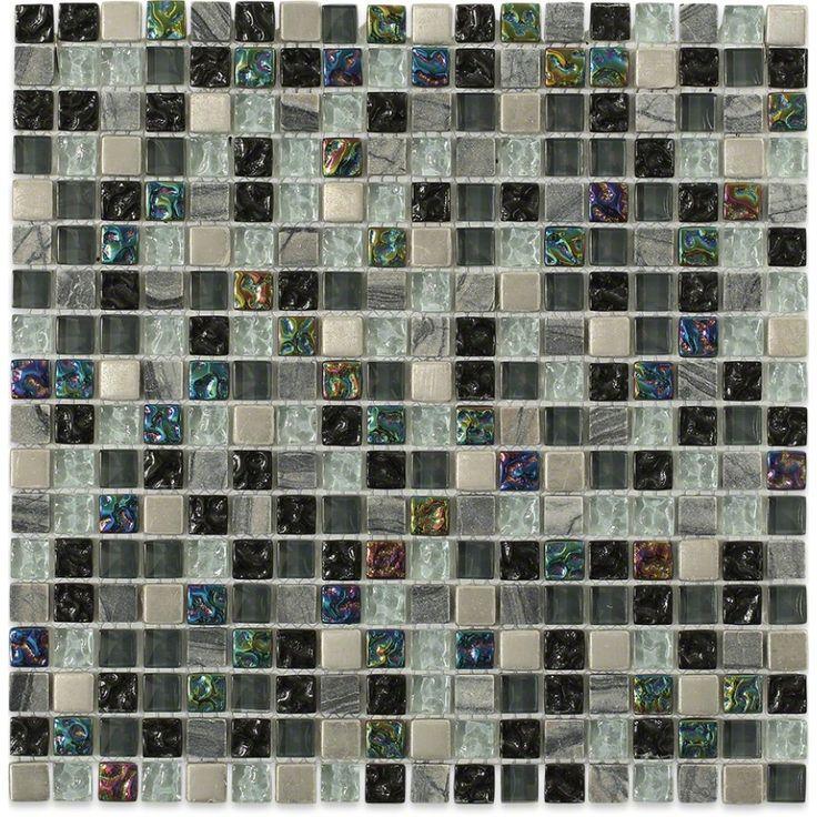 Shop For Nimbus Gray Blend Squares Marble & Glass Tile at TileBar.com