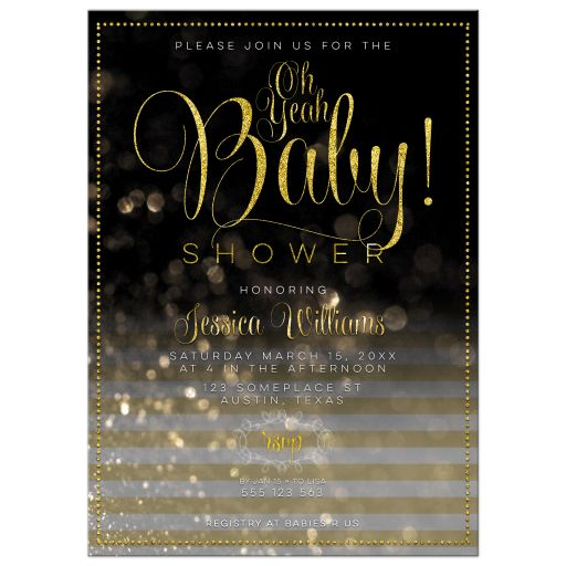 Black and Gold Baby Shower | Stylish OhYeah Baby Shower