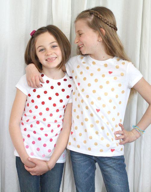 diy hand painted valentines shirts