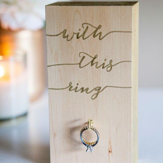 DIY Wooden Wedding Ring Holder (from @jencarreiro!)