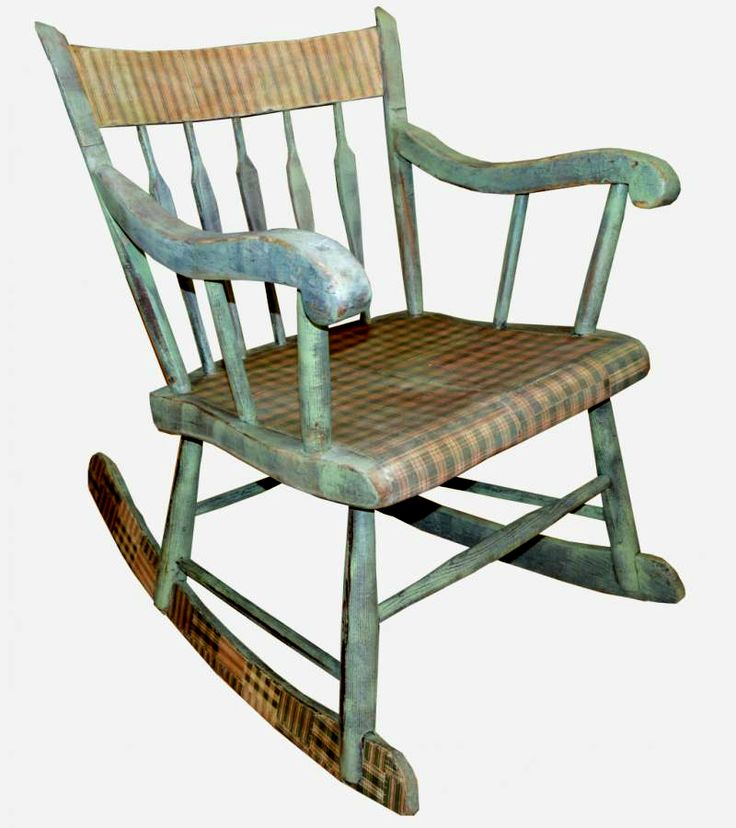 antique decoupage and patina paint rocking chair, shabby chic, vintage